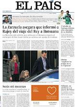 """Photo: La Zarzuela asegura que informó a Rajoy del viaje del Rey a Botsuana; El alcalde de Santiago informa a los concejales de su dimisión; Obama: """"Legalizar las drogas no es la respuesta"""", entre los temas de nuestra portada de este lunes, 16 de abril http://srv00.epimg.net/pdf/elpais/1aPagina/2012/04/ep-20120416.pdf"""