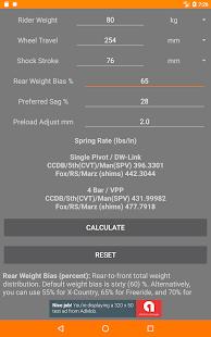 Rear Shock Coil Calculator for bike