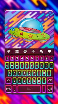 Colored Neon Keyboard - screenshot