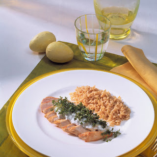 Hähnchenbrust mit Kresse-Creme
