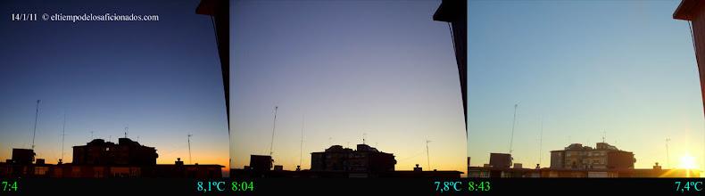 Photo: Amanecer del día 14/01/11