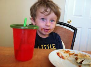 Photo: Finn and a Bean Burrito
