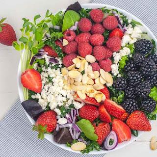 Triple Berry Mixed Green Salad Recipe