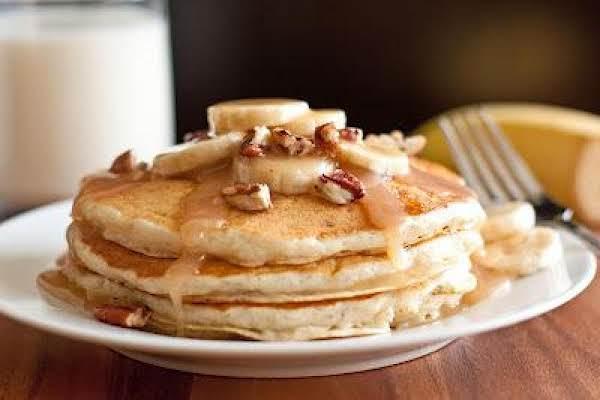 Banana Bread Pancakes-cinnamon Cream Cheese Syrup Recipe