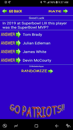 Schedule Trivia Game for New England Patriots Fans 134 screenshots 2