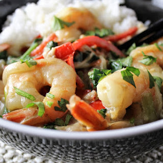 Thai Curry Shrimp and Vegetables.