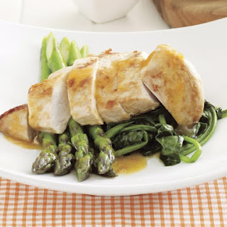 Citrus Chicken with Wilted Spinach