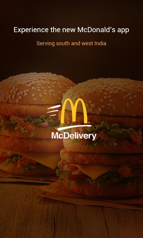 McDelivery- India West & South- screenshot