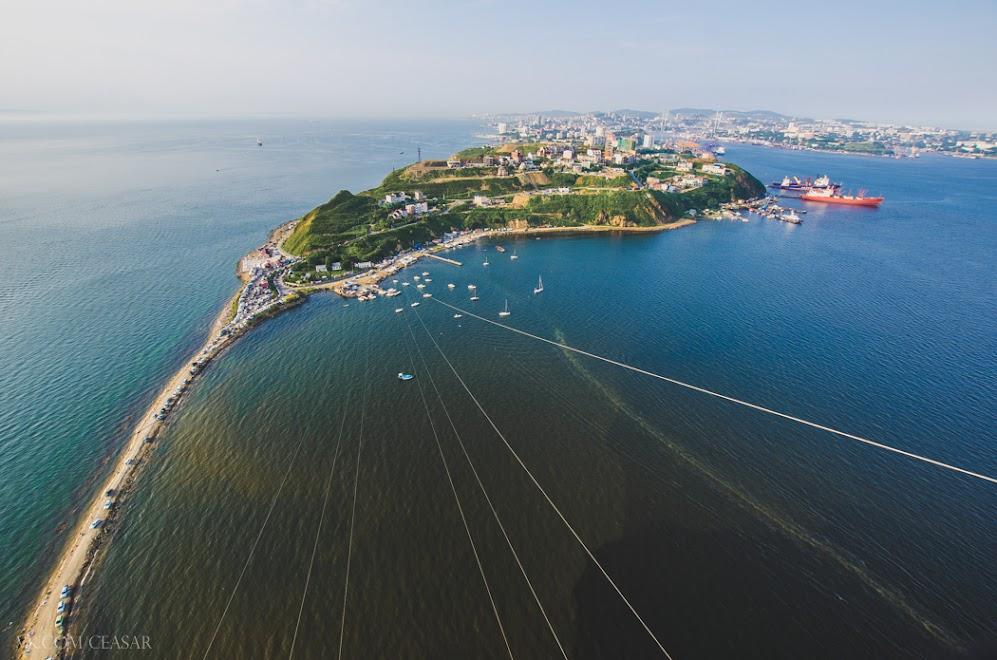 Вид с ЛЭП на Владивосток