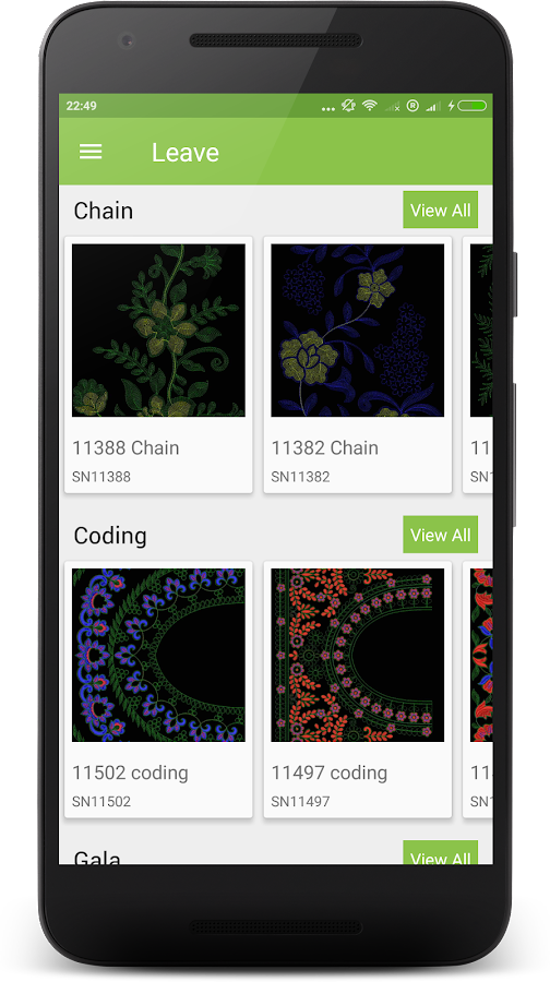 Leave Embroidery Designs- screenshot