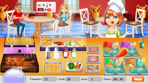 BBQ Restaurant Rush: Grill Food Cooking Stand android2mod screenshots 2