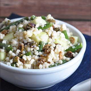 Israeli Couscous with Green Beans, Feta, and Raisins