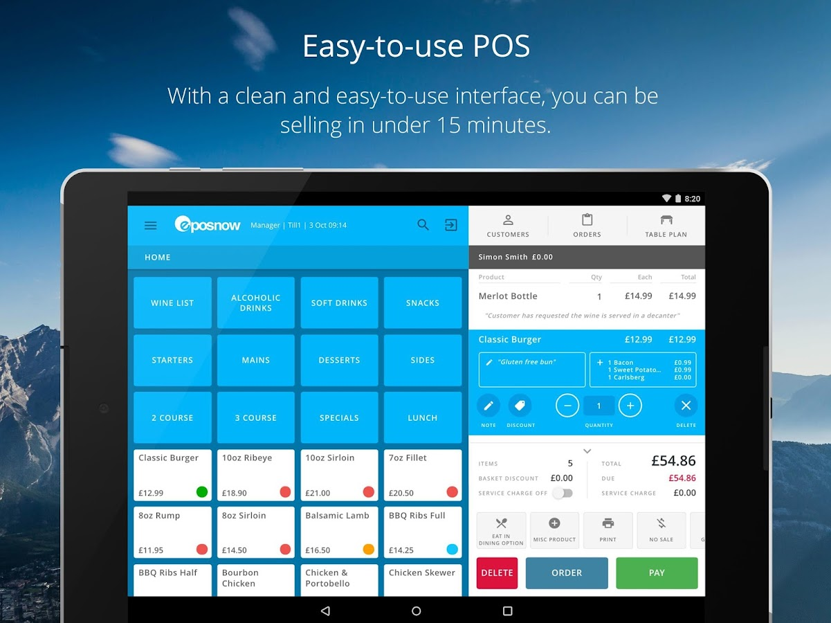 Epos Now POS Till- screenshot