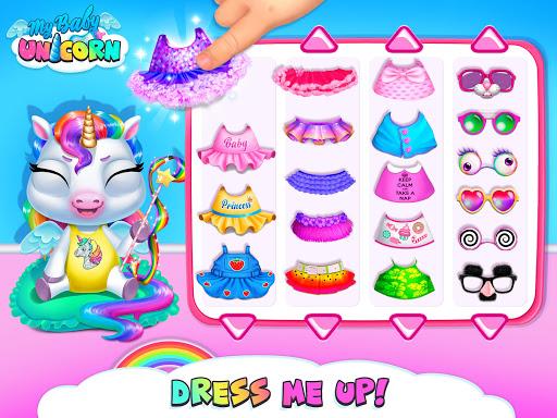 My Baby Unicorn - Virtual Pony Pet Care & Dress Up android2mod screenshots 18