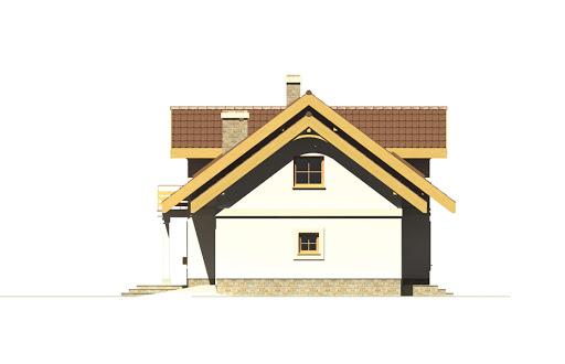 Prymulka z garażem - Elewacja prawa