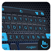 Cool Blue Tech Space Keyboard Theme