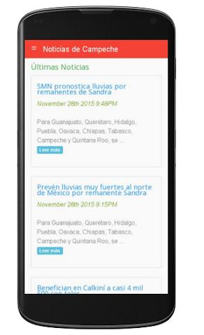 android Noticias de Campeche Screenshot 0