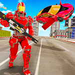 Flying Car Robot Transformation Game Icon