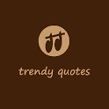 Trendy Quote share on social icon