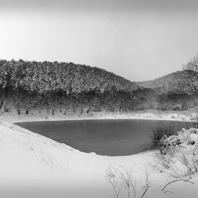 Cold Day In Snailbeach by Keith Williams - Landscapes Waterscapes ( black and white, b and w, landscape, b&w, monotone, mono-tone )