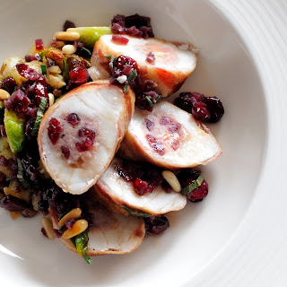 Monkfish with Sage, Cranberry and Pine Nut Stuffing Recipe