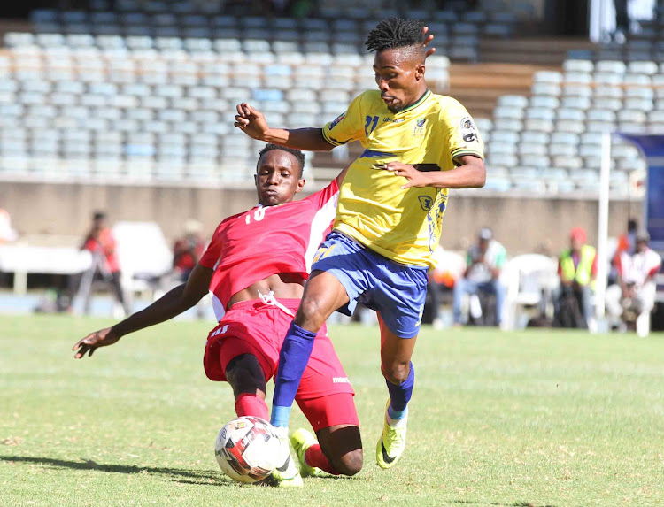 The action during the match between Kenya and Tanzania in the 2020 Chan qualifiers at the Moi Stadium Kasarani on August 4, 2019.