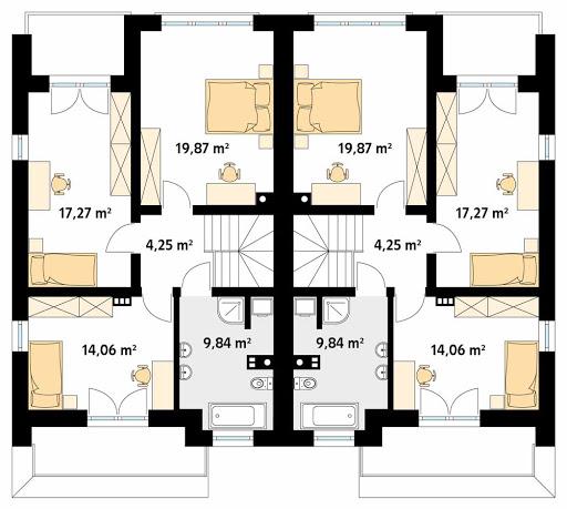 Miodowy - Rzut piętra