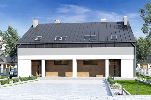 projekt Mazur bez garażu bliźniak B-BL2