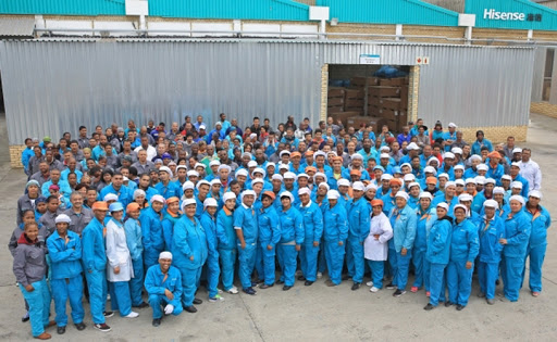 Production staffs at Hisense's facility in Atlantis, South Africa (Photo: Business Wire)