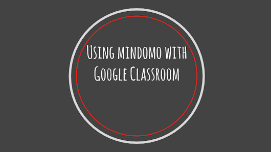 Mindomo and Google Classroom Connection