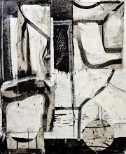 "Photo: Alibi (enamel,charcoal and canvas on canvas) 53x42"" 2014"