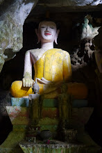 Photo: Buddha statues inside caves @ Vang Vieng