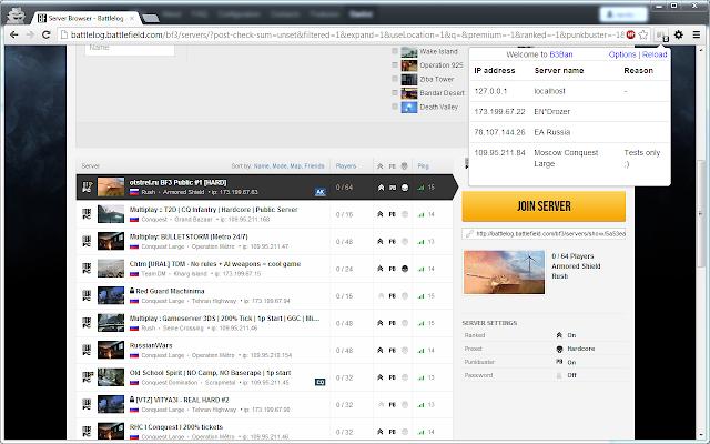 Battlefield 3 ban server extension