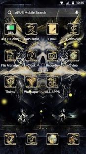 Golden Cool Skull- APUS launcher theme&wallpaper - náhled