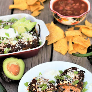 Healthy Smothered Rellenos.