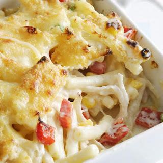 Baked Chicken Macaroni & Cheese.