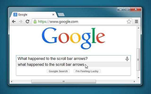 Win7 Scrollbars
