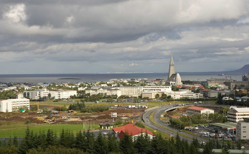 Lindblad-Expeditions-Iceland-Perlan-Viewing-Deck.jpg - Get incredible views of downtown Reykjavik, Iceland, on the Perlan Viewing Deck during your Lindblad Expeditions tour.