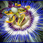 Passion Flower by Dawn Hoehn Hagler - Digital Art Things ( passiflora, tucson, arizona, photoshop, garden, passion flower, oil paint, flower, digital art, tohono chul park )