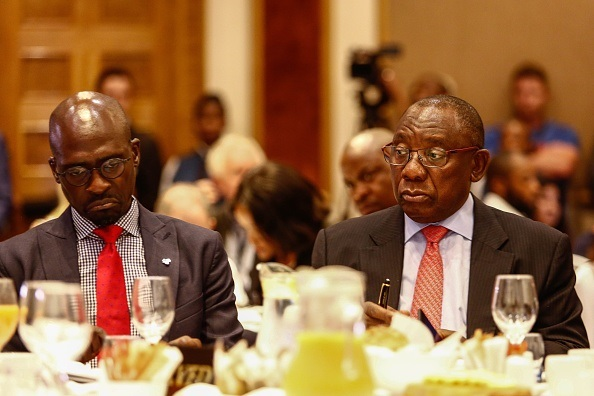 Home Affairs minister Malusi Gigaba and President Cyril Ramaphosa.