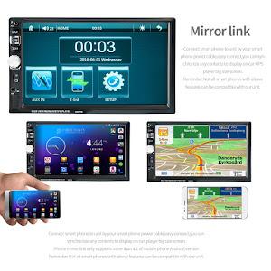 Mp5 Player auto, ecran 7 inch cu Mirrorlink, Touchscreen, USB, SD Card