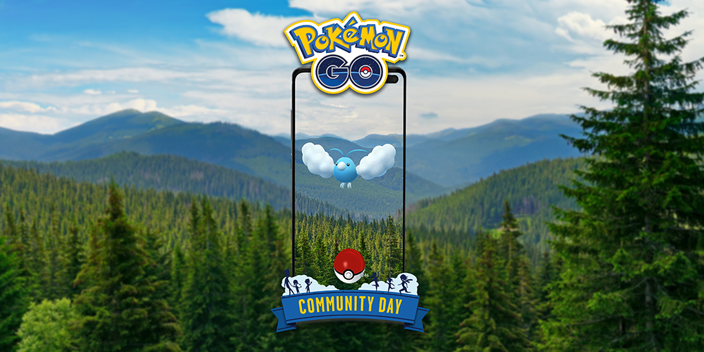 Community Day Pokémon GO - Mei 2021 - Swablu [image by pokemongolive.com]