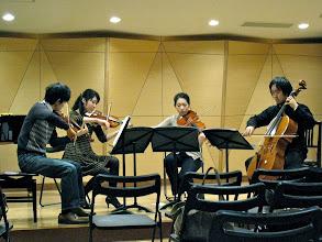 Photo: 長崎大学創楽堂での弦楽四重奏によるミニコンサートのリハーサル♪