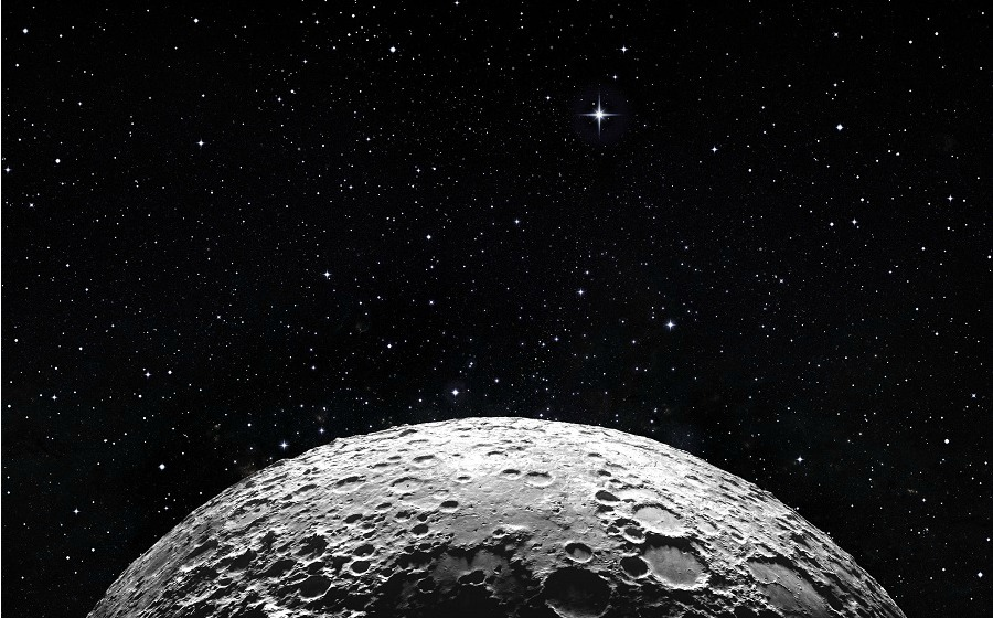 On the moon, water water everywhere and not a drop to drink (yet)