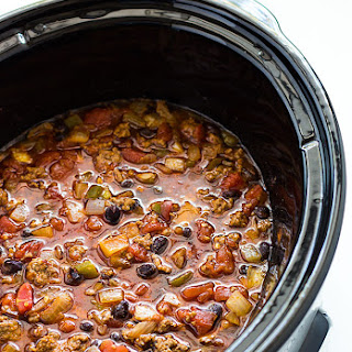 Crock Pot Beefy Black Bean Chili.