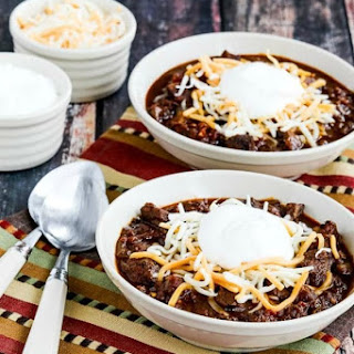 Instant Pot Low-Carb All-Beef Ancho and Anaheim Chili (Video).