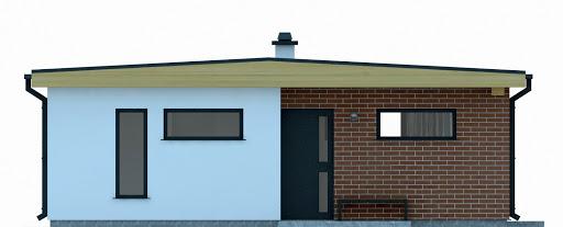 G255 - Budynek rekreacji indywidualnej - Elewacja przednia