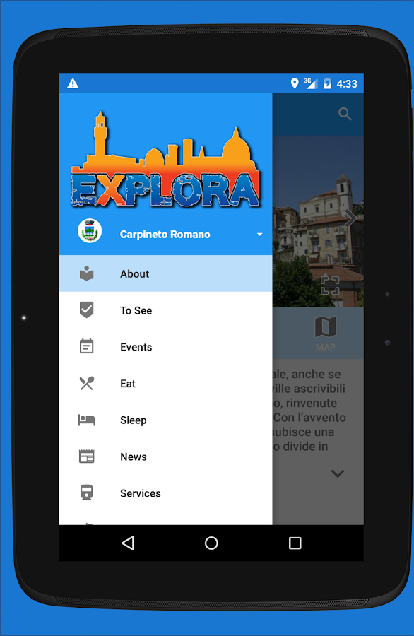 Explora- screenshot