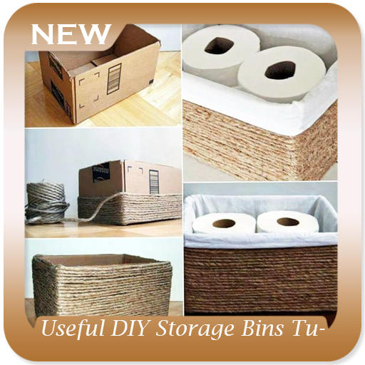 Useful DIY Storage Bins Tutorial