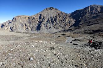 Photo: Montée au-dessus du camp de Gayu kharka